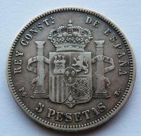 Španělsko 5 Peseta 1893 Alfonzo XIII.