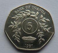 Uganda 5 Schilling 1987