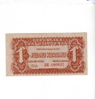 1Kčs/1944/, stav UNC, série EK