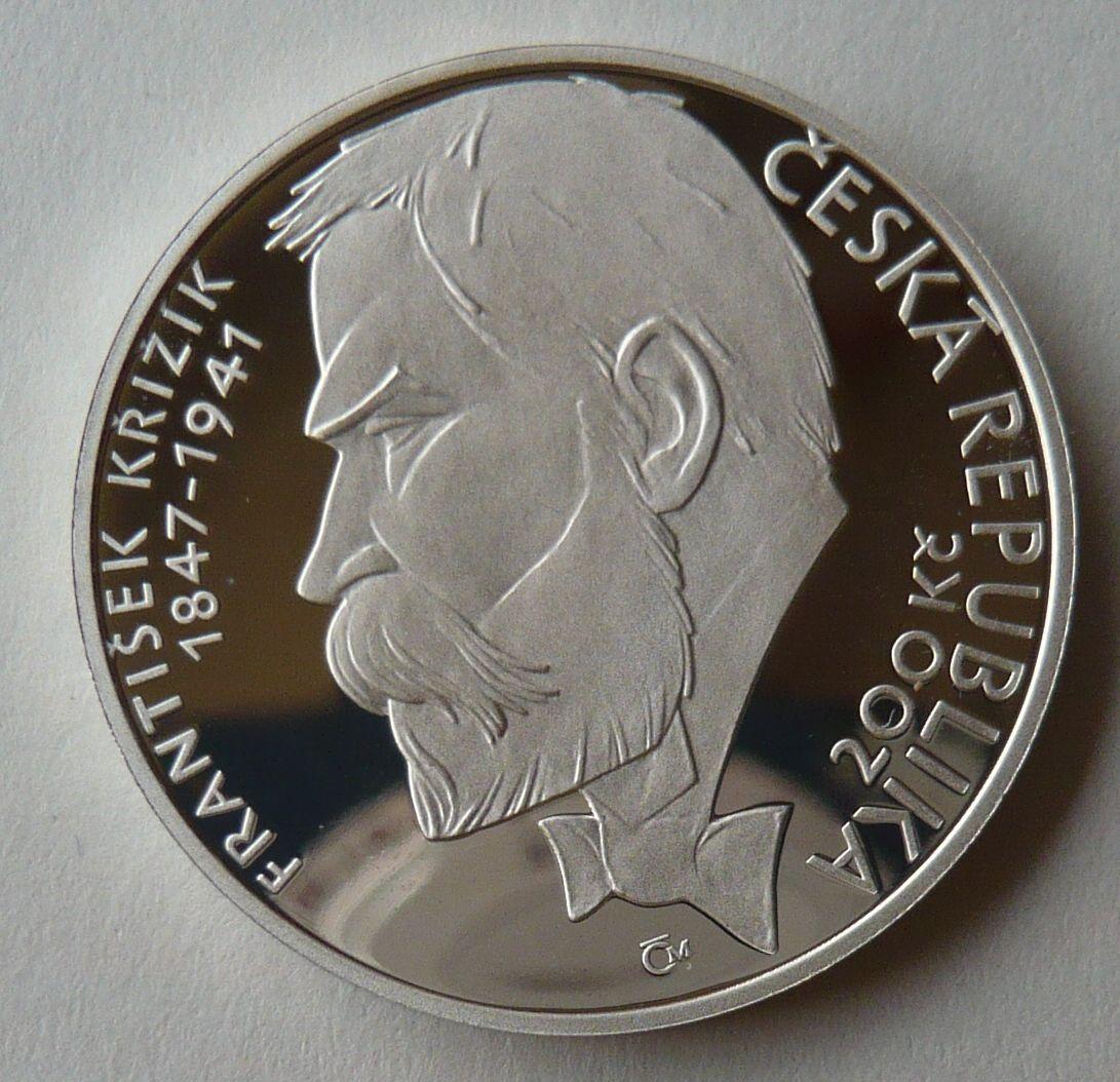 200 Kč(2003-Křižík) stav PROOF, etue a certifikát
