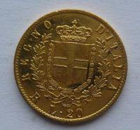Itálie 20 Lira 1878 Emanuel