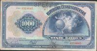 1000Kč/1932/, stav 2+ perf. SPECIMEN, série B