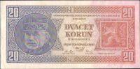 20Kč/1926/, stav 2+, série Vd