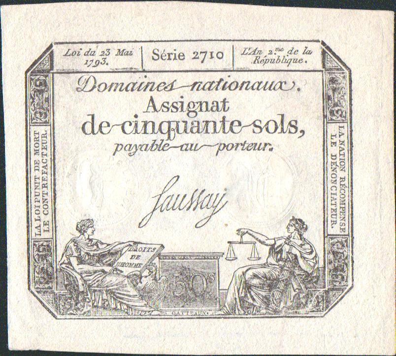 50Sous/1793-Asignát-Francie