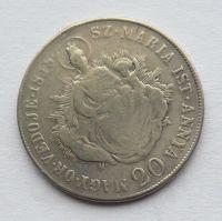 Uhry 20 Krejcar s Madonou 1848 KB - Ferdinand V.