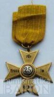 Sasko - kříž vojenských veteránů - za 25 let služby