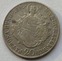 Uhry 20 Krejcar 1845 B Ferd.V.