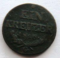 Rakousko 1 Krejcar 1816 G František II.