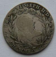 Rakousko 20 Krejcar 1782 A josef II.