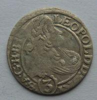Slezsko Vratislav 3 Krejcar 1666 Leopold I.