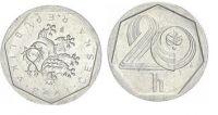 20 Haléř(1993), stav 1-/1-, CHYBORAŽBA, rub otočen o 180 stupňů