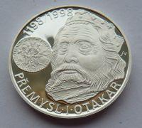 200 Kč(1998-Přemyslo Otakar I.), stav PROOF, etue a certifikát