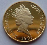 Cook.ostrovy 50 Dollar 1991 Kolumbus Au