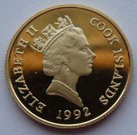 Cook.ostrovy 50 Dollar 1992 MAPA Au