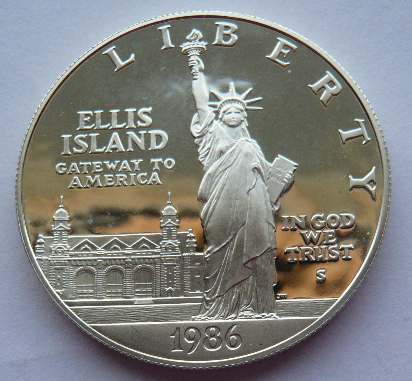 USA 1 Dol. socha svobody 1986