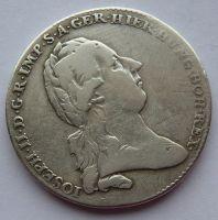 Rakousko 1/2 Tolar křížový 1785 Josef II.