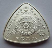 Slovensko 500 Ks Nové tisíciletí 2001