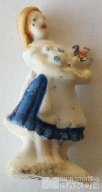 III.říše, zimní pomoc - figurka dívka v zástěře