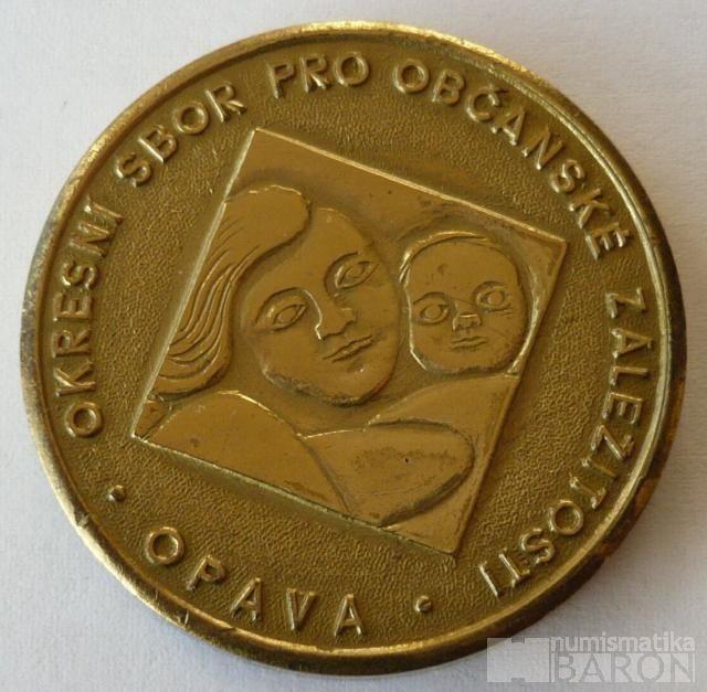 Opava medaile k narozeninám dítěte