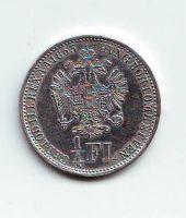 1/4  Gulden-Florin-Zlatník(1863), stav 0/0-, ražba V