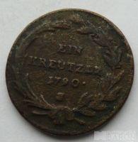 Rakousko 1 Krejcar Josef II. 1790 S