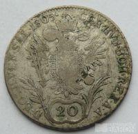 Rakousko 20 Krejcar František II. 1805 E