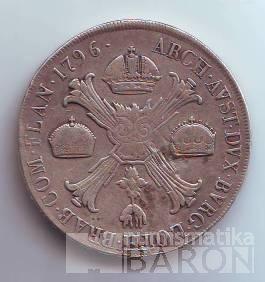Tolar křížový Františka I./1796/, stav 1 dr.hr., ražba F, m.o.