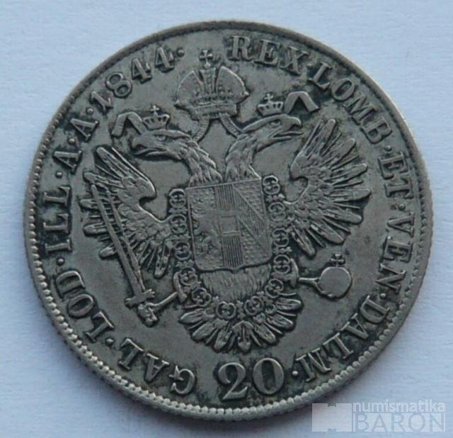 20 Krejcar 1844 C Ferdinand V.
