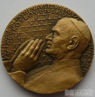 ČSR - návštěva papeže v Československu, průměr 50mm