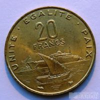 Džibutti 20 Frank 1999