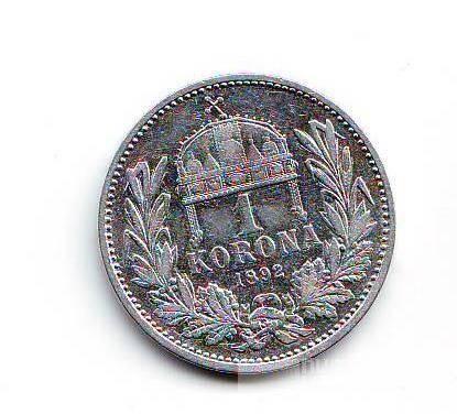 1 Koruna(1892), stav 1/1, ražba KB