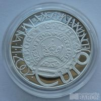 200 Kč(2002-zavedení Eura), stav PROOF, kapsle, certifikát