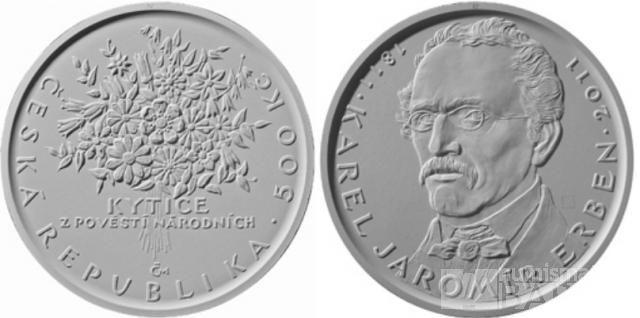 500 Kč(2011-Karel Jaromír Erben), stav bk, etue, certifikát