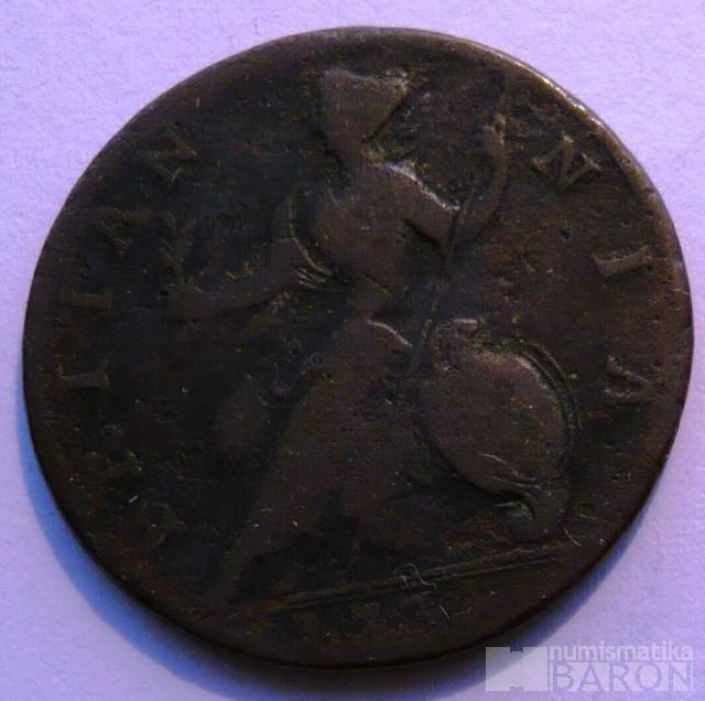 Anglie 1/2 Pence 1774 Jiří IV.