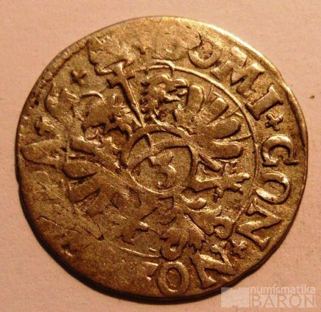 Švýcarsko 3 Krejcar 1599 kanton Zug