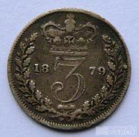 Anglie 3 Pence 1879  Viktorie