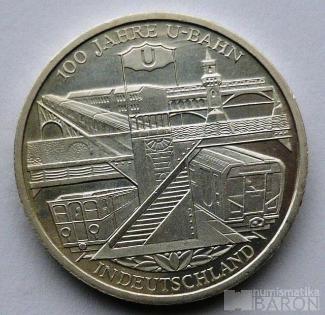 Německo 10 Euro 2002 - 100 let metra