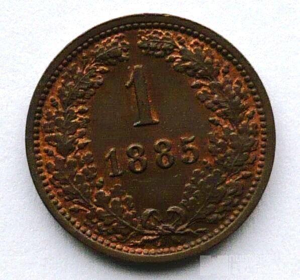 Rakousko 1 Krejcar 1885, stav 0/0