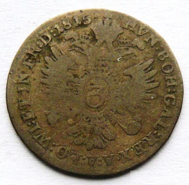 Uhry 3 Krejcar 1851 B František II.