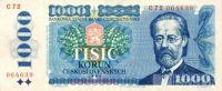 1000Kčs/1985/, stav UNC, série C