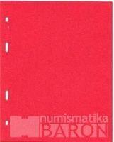List dělící do alba BARON 1 (na mince), červený