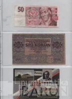 List k uložení bankovek do alba BARON 4, tři kapsy