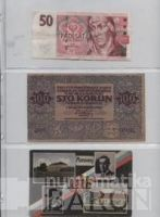 List do alba na bankovky, tři kapsy