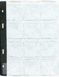 List k uložení mincí do alba BARON 1, 12 kapsiček-největší