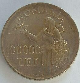 Rumunsko 100 000 Lei 1946