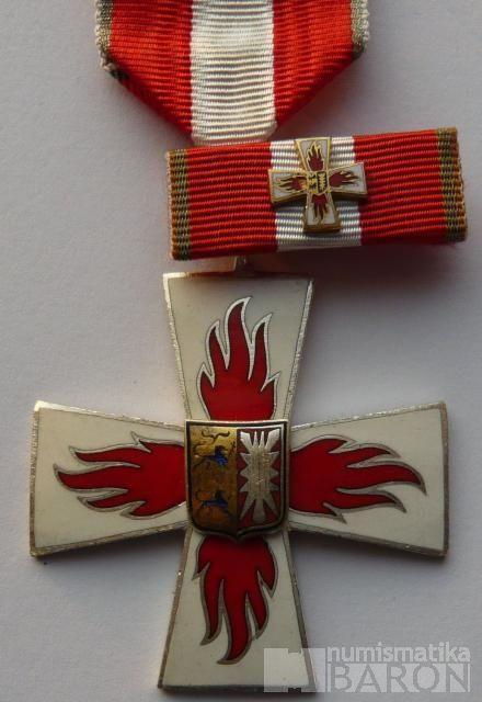 Německo - kříž hasičských sborů + miniat.