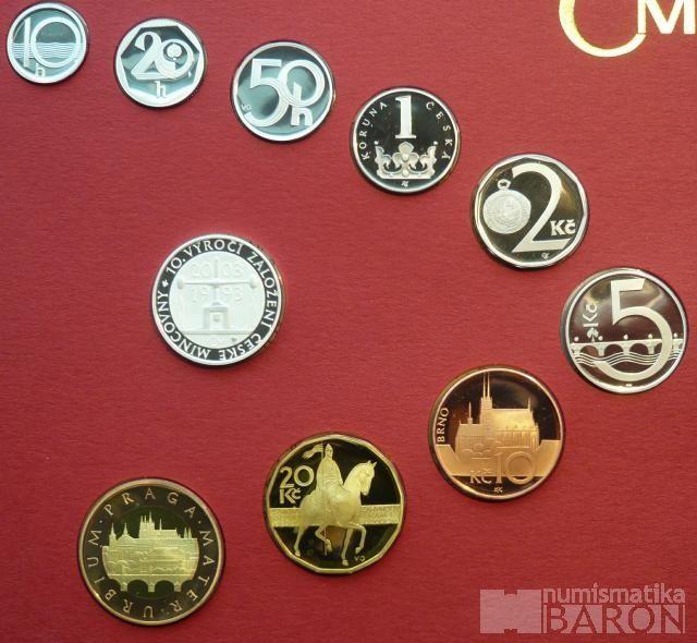 Ročníková sada oběžných mincí ČR (2003), stavy PROOF