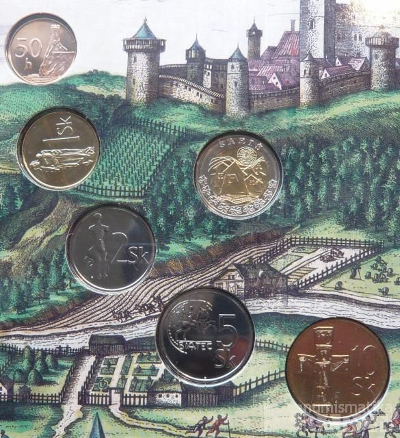 Ročníková sada oběžných mincí SR (2005-Šariš), stavy 0/0
