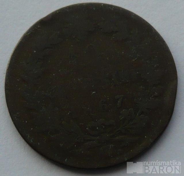 Itálie 10 Centisimi 1867