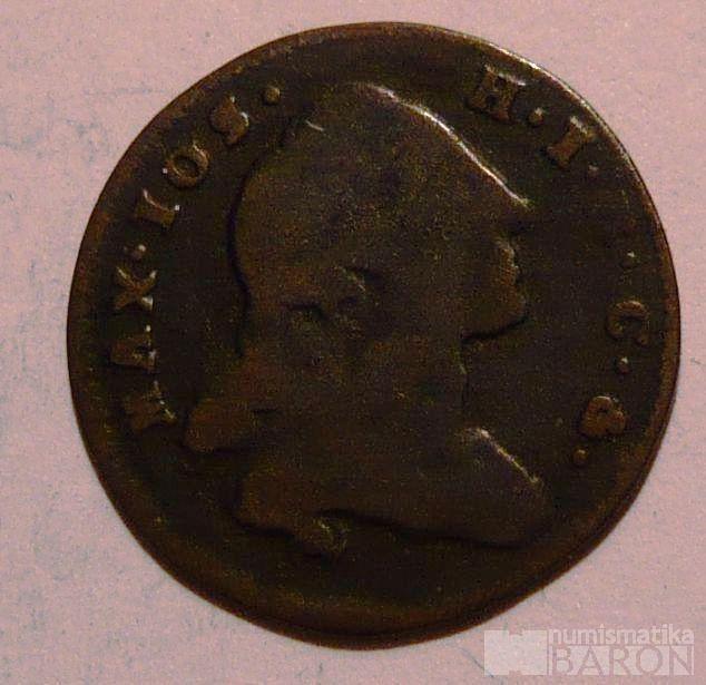 Bavorsko Krejcar 1760 Maxmil.Josef III.